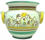 Casque-pot casette Ceramica Vietrese decorata a mano